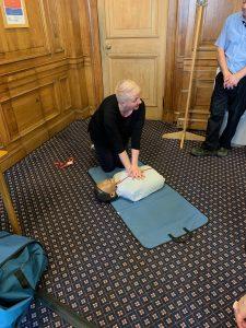 CPR demonstration