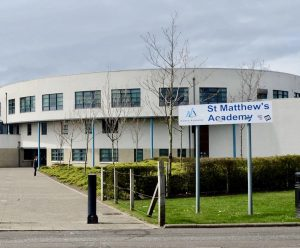 The St Matthew's Academy building, one of the schools where we delivered our First Aid Training.